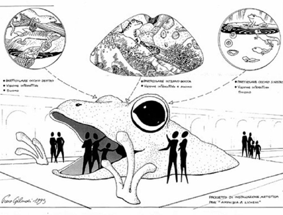 Piero Gilardi – amphibia e licheni