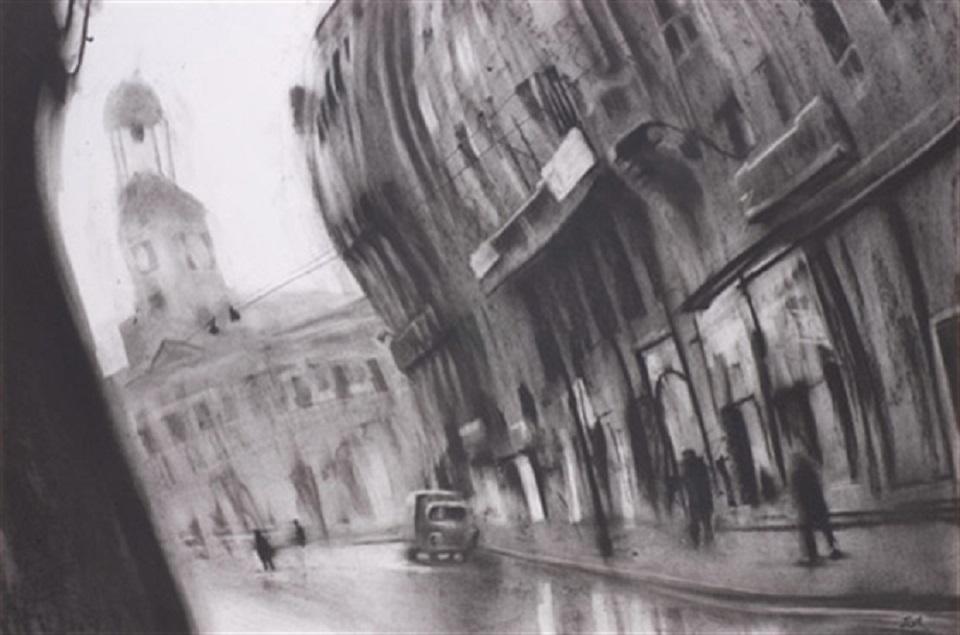 Javier Gil – calle del arenal y puerta del sol (madrid 1950)