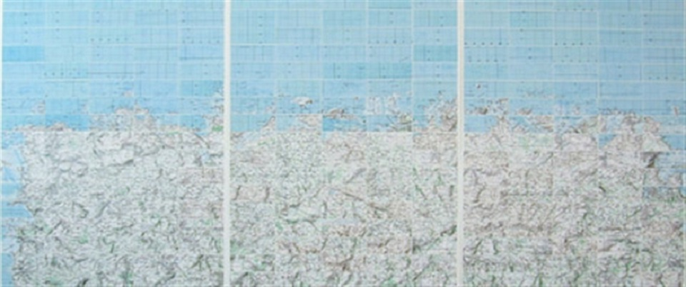Claude Faure – cartes géographiques n° 14 (mer nord)