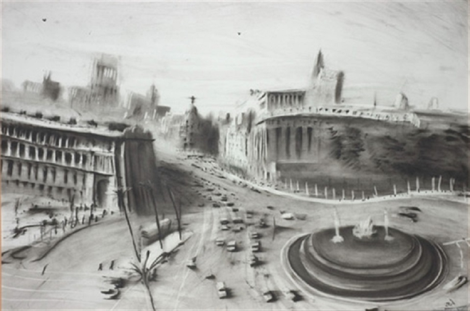 Javier Gil – la cibéles y calle de alcalà (madrid 1950)
